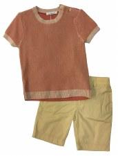 Boys Shorts Set Coral/Sand 3