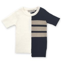 Ribbed Stripd S/S Sweater Blac