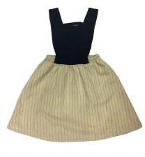 Linen Jumper Black/Beige 4