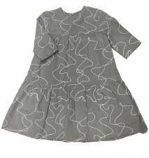 Tierred Dress W/ Thread Grey 5