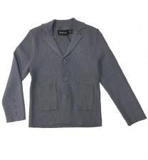 Ribbed Knit Blazer Blue/Grey 4