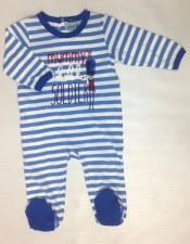 Striped Soldier Stretchie Blue