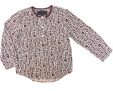 Printed L/S Shirt Burgundy 5