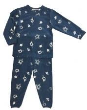 Velour PJ W/ Stars Stamps Blue