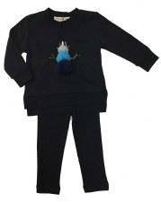Baby Snowman Set Black/Blue 6M
