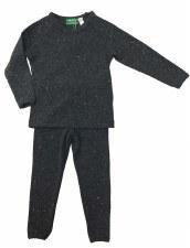 Ribbed Sparkle PJ Grey 6