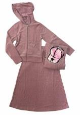 2pc Terry W/ Sequin Cap Pink 1
