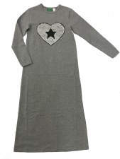 Nightgown w/ Sequin Heart Silv