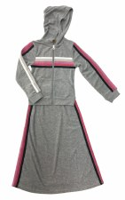 2pc Terry W/ Stripes Grey 7