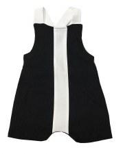 Baby Overall W/ Stripe Black/W