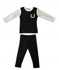 Shimmer PJ Black/Grey 6