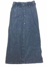 Long Skirt W/ Buttons LtDenim