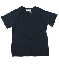 Ribbed Stitched S/S Tee Blue 1