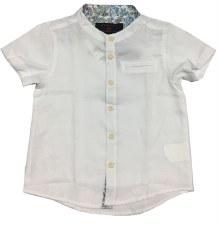 S/S Mandarin Collar Shirt Whit