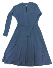Ribbed Teen Dress Blue L(20)