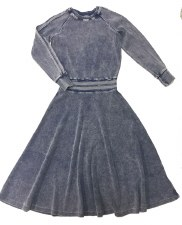 Washed Ribbed Teen Dress Light