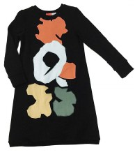 Abstract Shape Dress Black 4