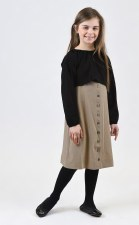 2pc Dress Black/Beige 7