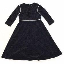 Velour Robe W/ Piping Black 16
