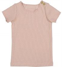 Lil Legs S/S Ribbed Tee Nude P