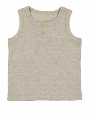 Lil Legs Ribbed Tank Oatmeal 2