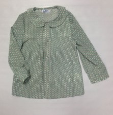 Bow Print Blouse Mint 2