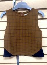 Checked Vest Camel 7