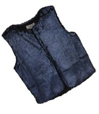 Cracked Fur Vest Royal 5
