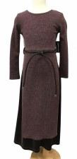 Ribbed Robe W/ Velour Plum 16