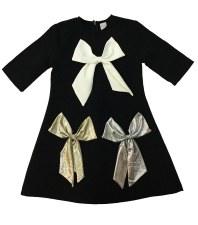 Bows Dress Black 5