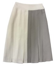 Pleated Teen Skirt Grey/Cream