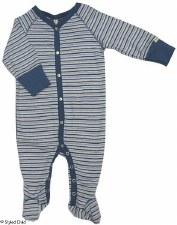 Striped Stretchie LtBlue/Grey-