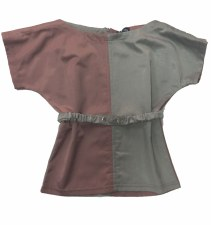 2Tone Girls Top Grey/Mauve 8