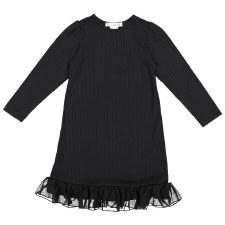 Rib Nightgown Black 6