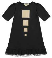 Nightgown w/ Gold Squares Blac
