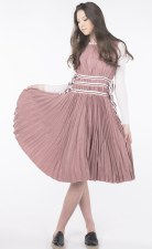 Pleated Teen Jumper Mauve M(18