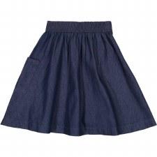 Denim Pocket Skirt Dark 5