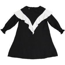 Ruffle Dress Black/White 6