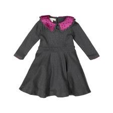Circle Dress w/ Collar Charcoa