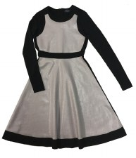 Teen Dress W/ Leather Panels B
