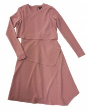 Layered Teen Dress Mauve L(20)