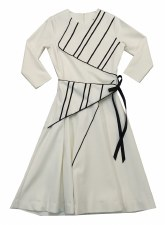 Teen Dress W/ Front Tie Black/
