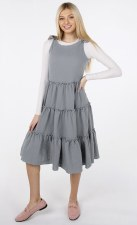 Teen Tiered Jumper Grey XXS(12