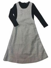 Teen Metallic Jumper Dress Gre