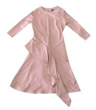 Teen Dress W/ Ruffle Mauve S(1