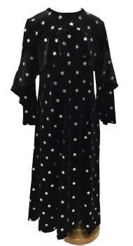 Velour Robe W/ Silver Stars Bl