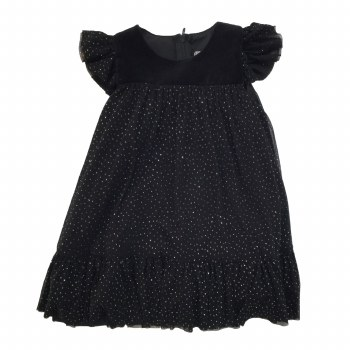 Sparkle Mesh Dress Black 4