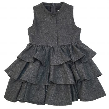 Tiered Wool Sparkle Jumper Gre
