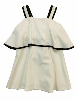 Jumper W/ Back Bow White/Black