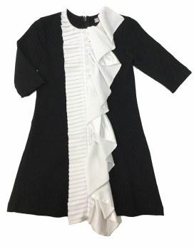 Dress W/ Ruffle Black/White 5